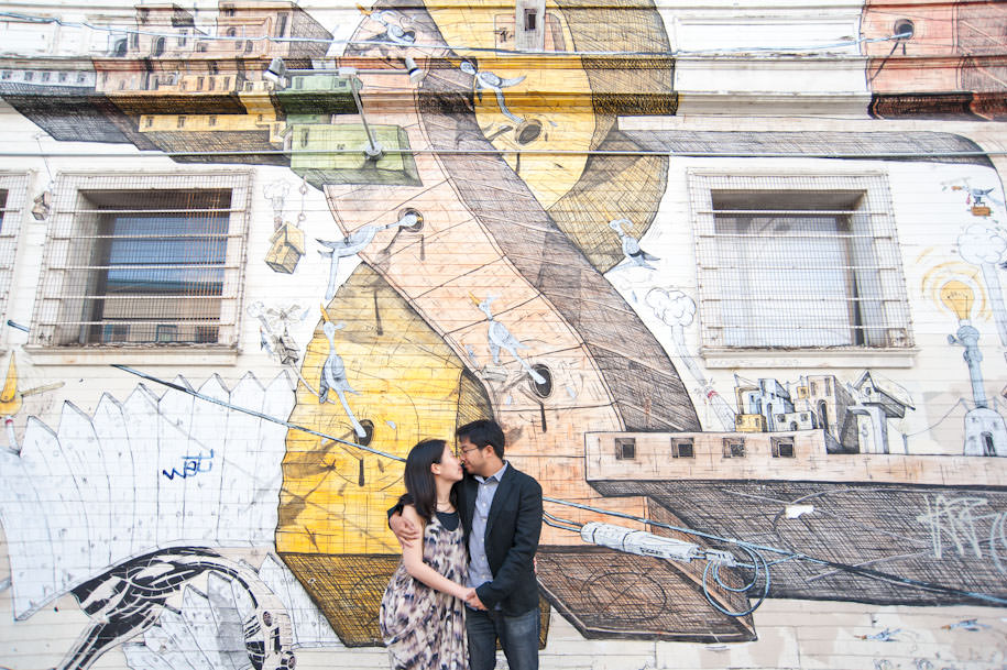 San Francisco Mission District Engagement Photography Street Art (6)