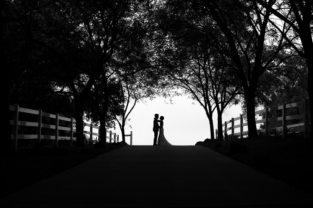Saddlerock Ranch Silhouette Wedding Portrait