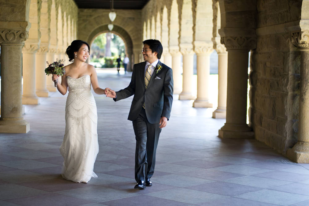 Stanford Halls Wedding Portrait