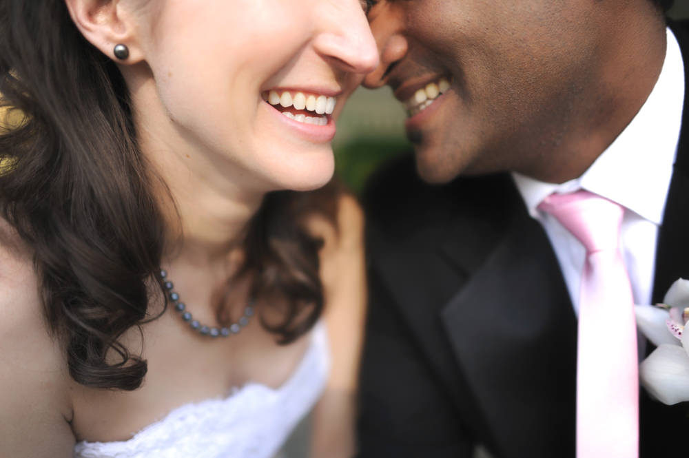 Couples Smiling Wedding Portrait