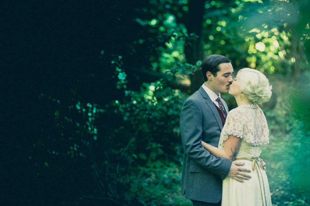 First look at conservatory of flowers wedding