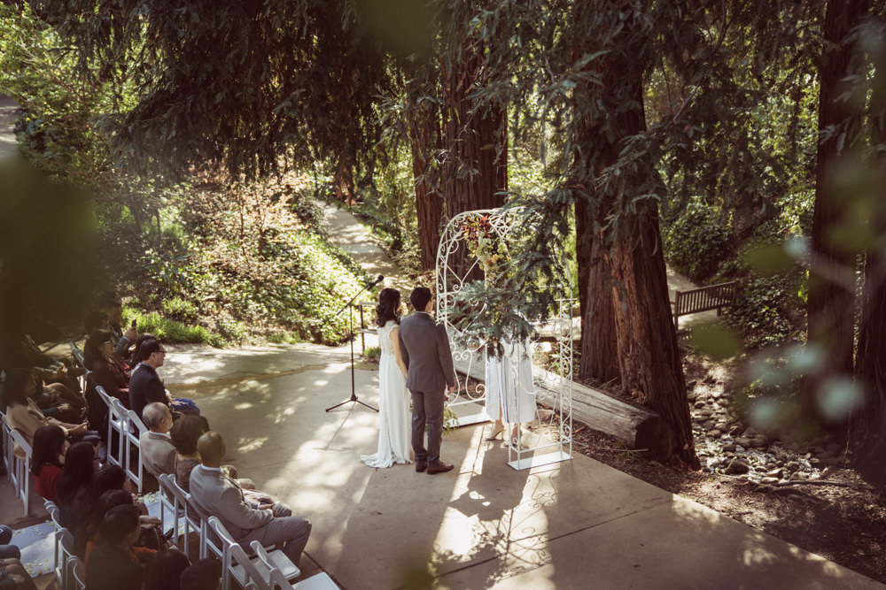 Redwoods wedding ceremony at Piedmont Community Hall wedding
