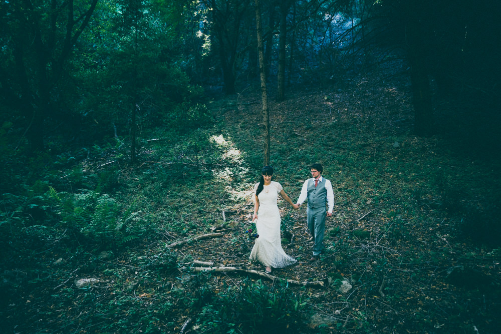 Napa fall nature-themed wedding photography