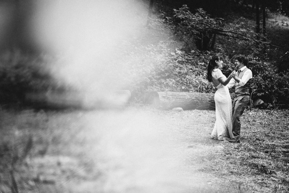 Black and white nap outdoor winemakers wedding dance