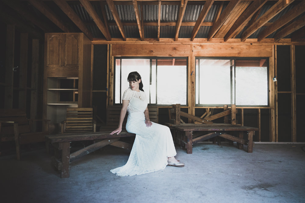 Rustic Napa cabin inspired bridal wedding photography
