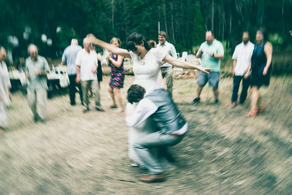 Creative wedding motion blur dancing photo
