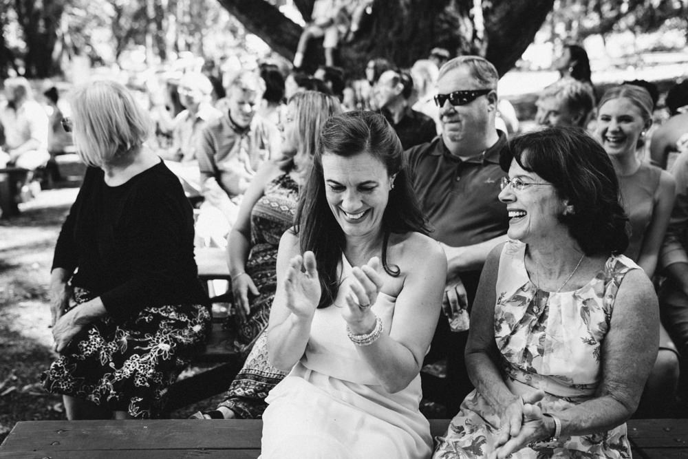 Black and white napa outdoor summer wedding photography