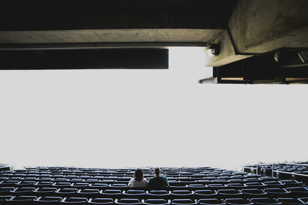 Inception style baseball stadium engagement shoot idea