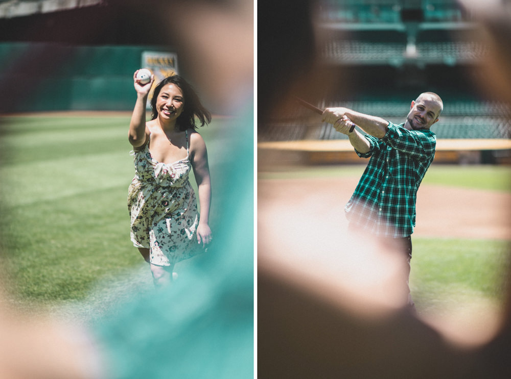 How to book a baseball stadium engagement shoot at Oakland Coliseum