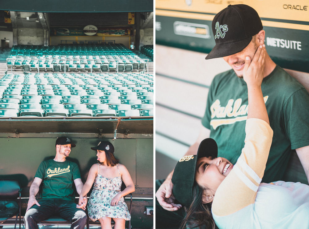 Oakland baseball stadium engagement shoot idea