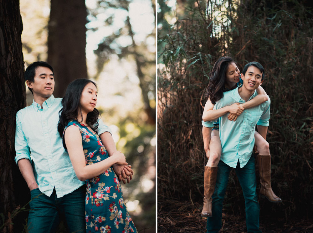San Francisco engagement photographer shooting in golden gate park