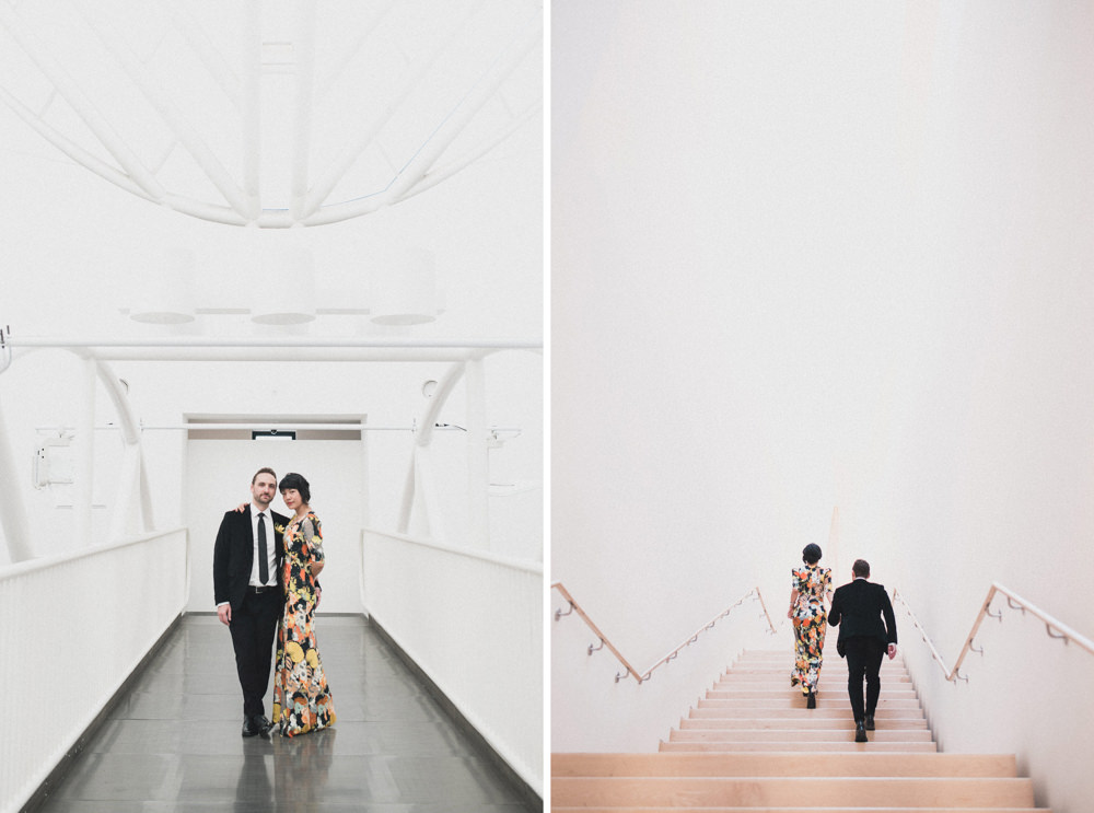 Couple's wedding photography in SF MOMA museum
