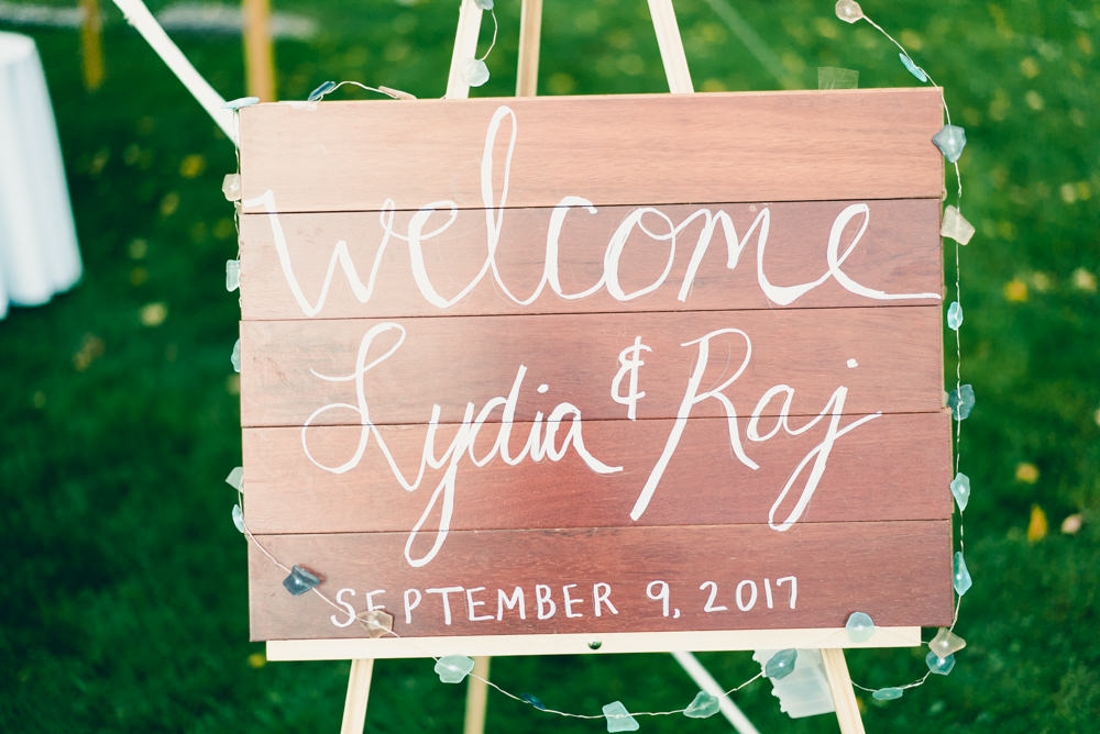 Wedding inspiration wood plank welcome board
