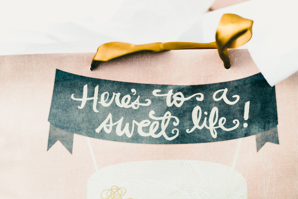 Here's to a sweet life wedding bunting
