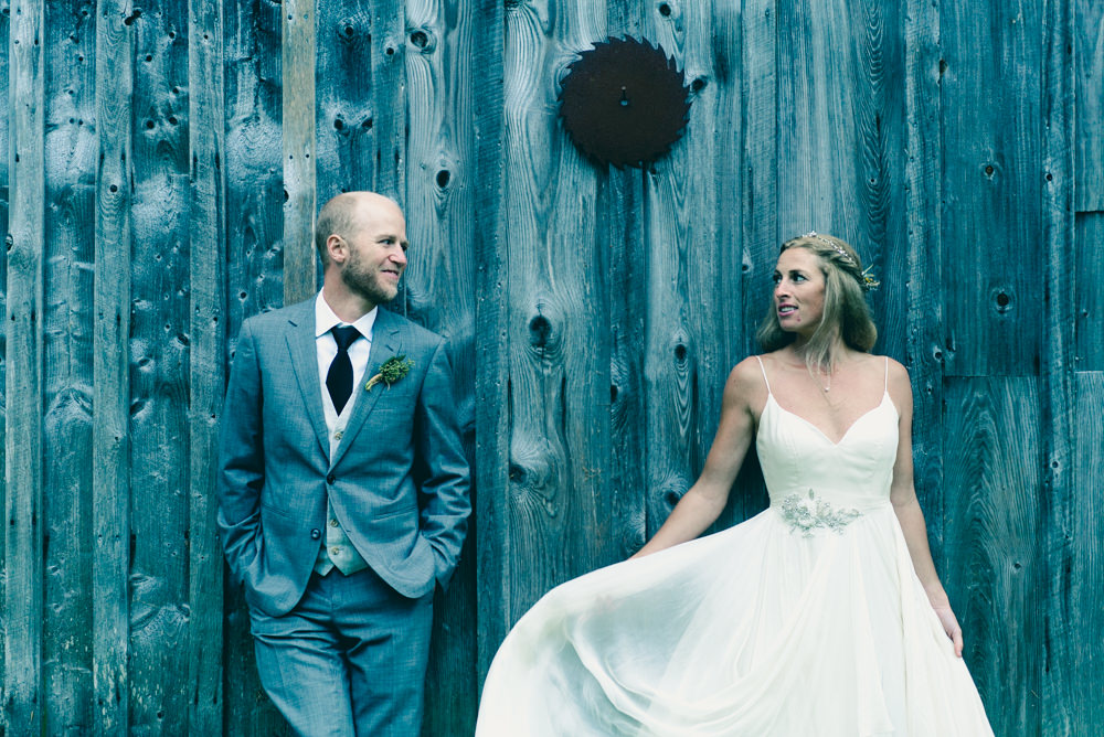Blue farmhouse wedding shoot in Vermont