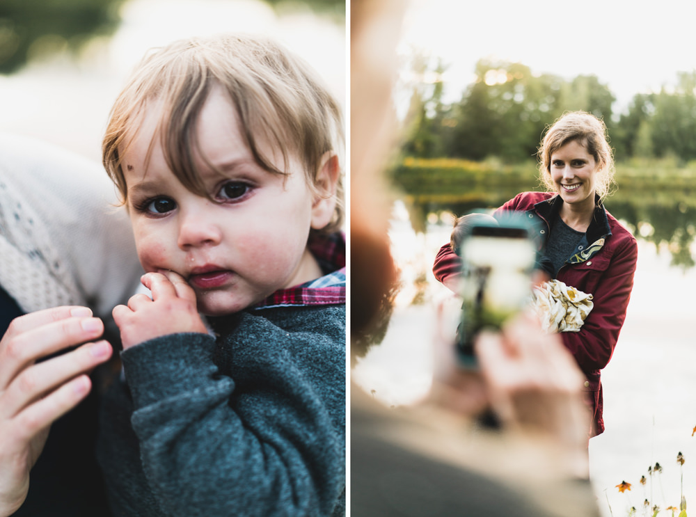 Candid shots of guests at Vermont fall wedding