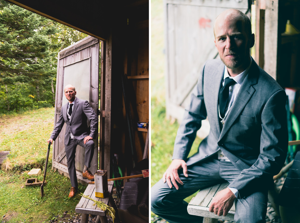 Groom farmhouse themed wedding shoot